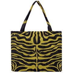 Skin2 Black Marble & Yellow Leather (r) Mini Tote Bag by trendistuff