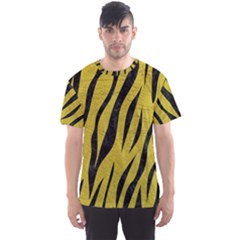 Skin3 Black Marble & Yellow Leather Men s Sports Mesh Tee
