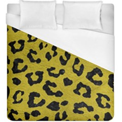Skin5 Black Marble & Yellow Leather (r) Duvet Cover (king Size) by trendistuff