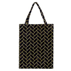 Brick2 Black Marble & Yellow Watercolor (r) Classic Tote Bag by trendistuff