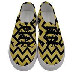 Chevron9 Black Marble & Yellow Watercolor Men s Classic Low Top Sneakers