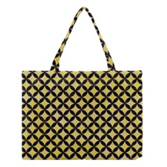 Circles3 Black Marble & Yellow Watercolor Medium Tote Bag by trendistuff