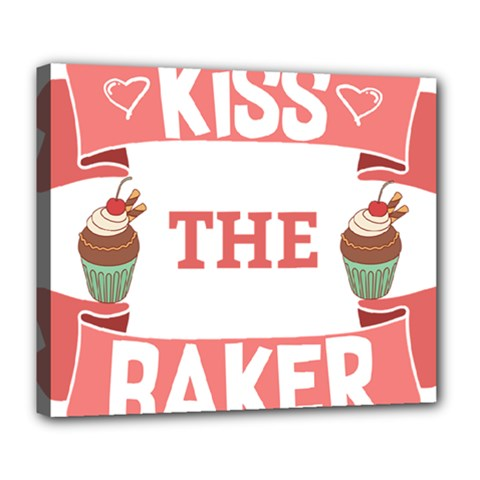 Kiss The Baker Deluxe Canvas 24  X 20   by BakersandArtists