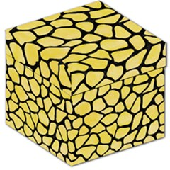 Skin1 Black Marble & Yellow Watercolor (r) Storage Stool 12   by trendistuff