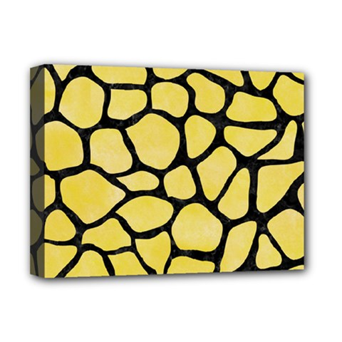 Skin1 Black Marble & Yellow Watercolor (r) Deluxe Canvas 16  X 12