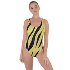 Skin3 Black Marble & Yellow Watercolor Bring Sexy Back Swimsuit