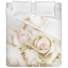 Pastel Roses Antique Vintage Duvet Cover Double Side (california King Size) by Celenk
