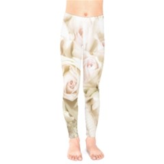 Pastel Roses Antique Vintage Kids  Legging by Celenk