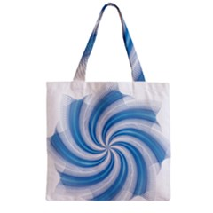 Prismatic Hole Blue Zipper Grocery Tote Bag by Mariart
