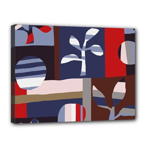 Surface Tree Polka Dots Canvas 16  X 12  by Mariart