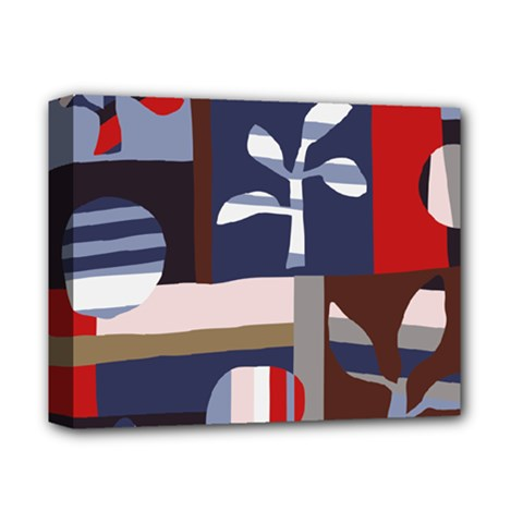 Surface Tree Polka Dots Deluxe Canvas 14  X 11  by Mariart