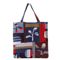 Surface Tree Polka Dots Grocery Tote Bag by Mariart