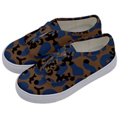 Superfiction Object Blue Black Brown Pattern Kids  Classic Low Top Sneakers by Mariart