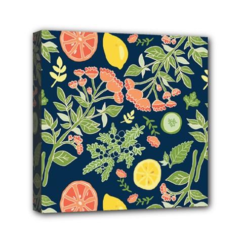 Summer Fruite Orange Lemmon Tomato Mini Canvas 6  X 6  by Mariart