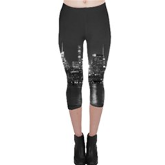 New York Skyline Capri Leggings