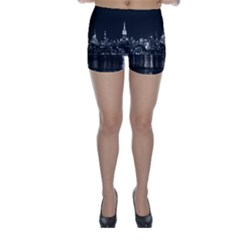 New York Skyline Skinny Shorts