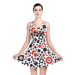Square Objects Future Modern Reversible Skater Dress