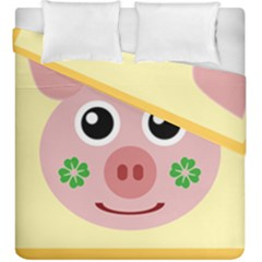 Luck Lucky Pig Pig Lucky Charm Duvet Cover Double Side (king Size) by Celenk