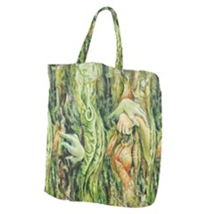 Chung Chao Yi Automatic Drawing Giant Grocery Zipper Tote by Celenk