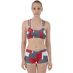 Cross Abstract Shape Line Women s Sports Set