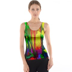 Abstract Vibrant Colour Botany Tank Top