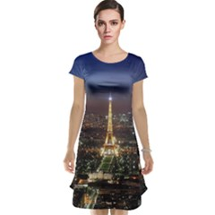Paris At Night Cap Sleeve Nightdress