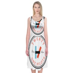 Twenty One Pilots Midi Sleeveless Dress by Celenk