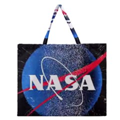 Nasa Logo Zipper Large Tote Bag by Celenk