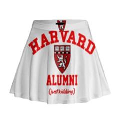 Harvard Alumni Just Kidding Mini Flare Skirt by Celenk