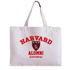 Harvard Alumni Just Kidding Zipper Medium Tote Bag by Celenk