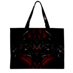 Black Dragon Grunge Zipper Mini Tote Bag