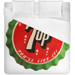 Fresh Up With  7 Up Bottle Cap Tin Metal Duvet Cover (king Size) by Celenk