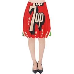 Fresh Up With  7 Up Bottle Cap Tin Metal Velvet High Waist Skirt by Celenk
