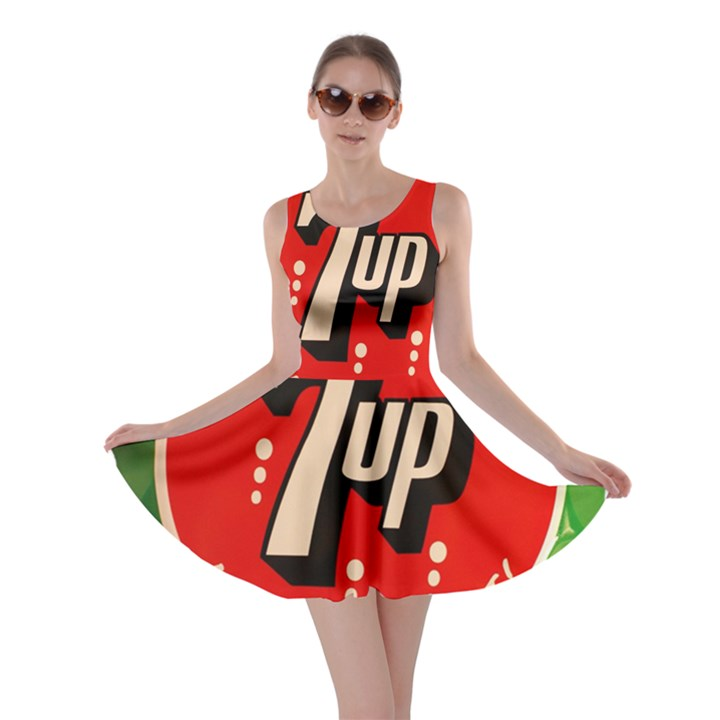 Fresh Up With  7 Up Bottle Cap Tin Metal Skater Dress