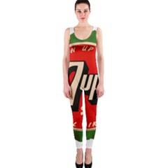 Fresh Up With  7 Up Bottle Cap Tin Metal Onepiece Catsuit by Celenk
