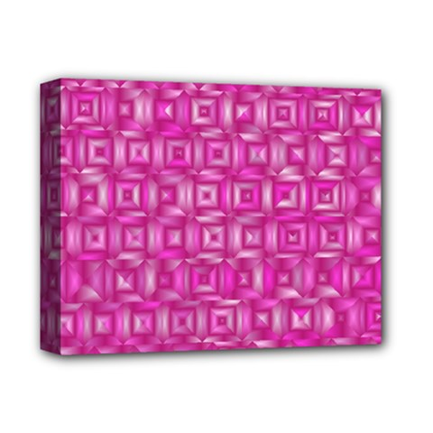 Classic Blocks,pink Deluxe Canvas 14  X 11  by MoreColorsinLife