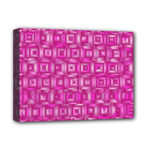 Classic Blocks,pink Deluxe Canvas 16  X 12   by MoreColorsinLife