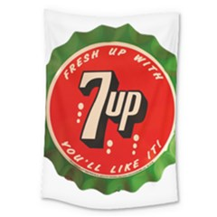 Fresh Up With  7 Up Bottle Cap Tin Metal Large Tapestry by Celenk