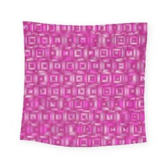 Classic Blocks,pink Square Tapestry (small) by MoreColorsinLife