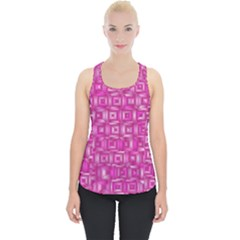 Classic Blocks,pink Piece Up Tank Top by MoreColorsinLife