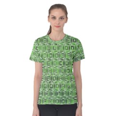 Classic Blocks,green Women s Cotton Tee by MoreColorsinLife