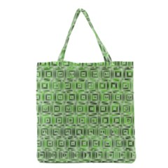 Classic Blocks,green Grocery Tote Bag by MoreColorsinLife