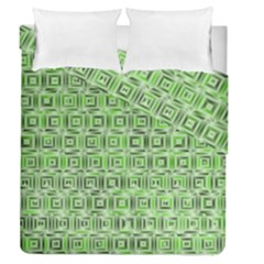 Classic Blocks,green Duvet Cover Double Side (queen Size) by MoreColorsinLife