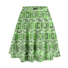 Classic Blocks,green High Waist Skirt by MoreColorsinLife