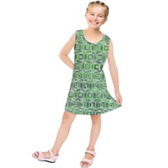 Classic Blocks,green Kids  Tunic Dress by MoreColorsinLife