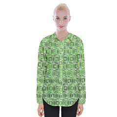 Classic Blocks,green Womens Long Sleeve Shirt by MoreColorsinLife