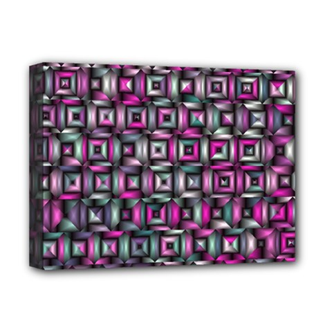 Classic Blocks,pink Combo Deluxe Canvas 16  X 12   by MoreColorsinLife