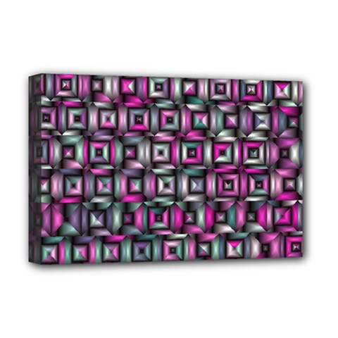 Classic Blocks,pink Combo Deluxe Canvas 18  X 12   by MoreColorsinLife