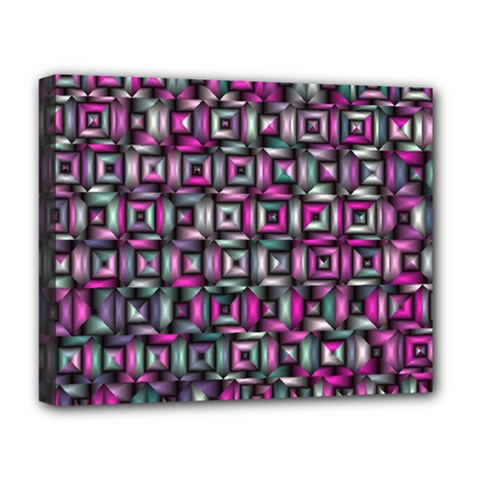 Classic Blocks,pink Combo Deluxe Canvas 20  X 16   by MoreColorsinLife