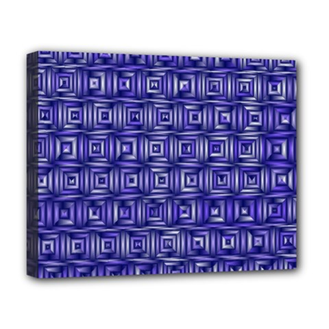Classic Blocks,blue Deluxe Canvas 20  X 16   by MoreColorsinLife